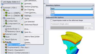 Vanliga användarfrågor om SolidWorks Simulation - resultat