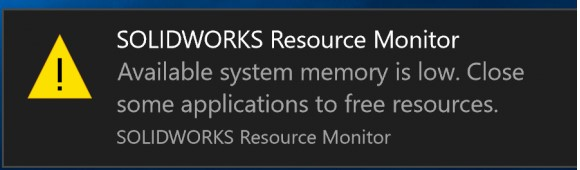 Solidworks Resource Monitor _3