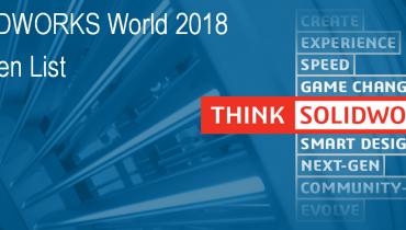 Top Ten List - SolidWorks World 2018