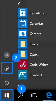 Start - Inställningar