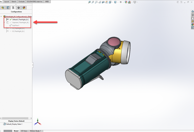 SOLIDWORKS Visulize collapsed