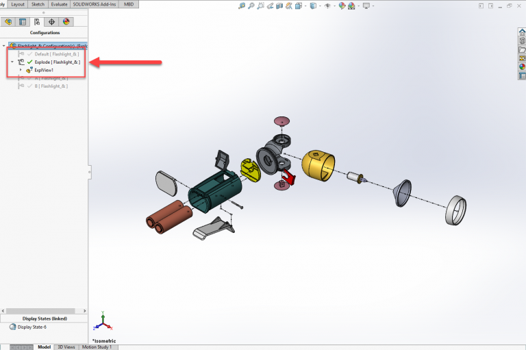 Solidworks Visualize exploded