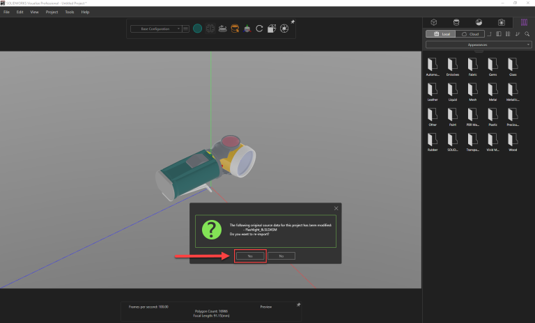 Solidworks Visualize reimport