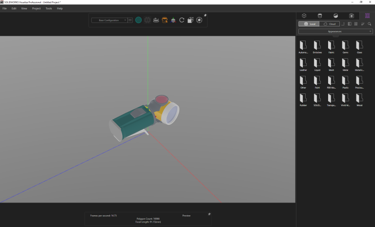 Solidworks Visualize vis_collapsed