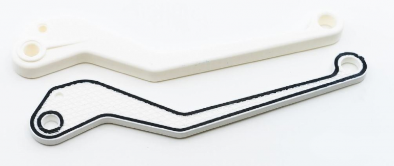 Komponenter 3d-printade i Markforged Onyx White